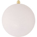 "10"" (250mm) Giant Commercial Shatterproof Ball Ornament, Snowball Glitter, Case, 4 Pieces   Christmas by Krebs Wholesale"