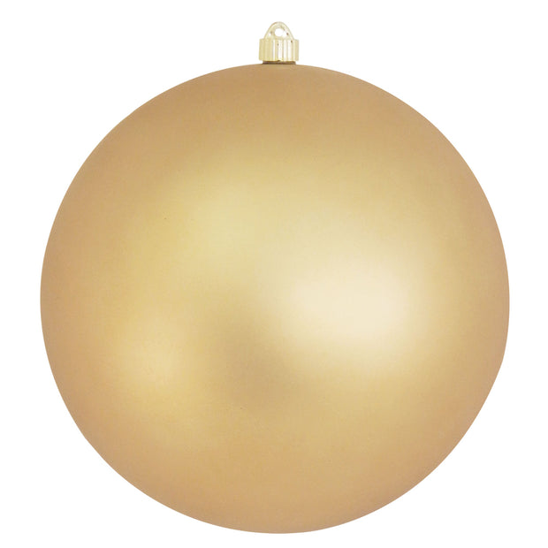 "12"" (300mm) Giant Commercial Shatterproof Ball Ornament, Gold Dust, Case, 2 Pieces"