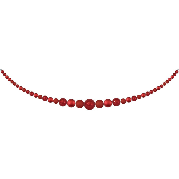 11.5' Giant Commercial Shatterproof Ball Garland, Red Multi, Case, 1 Piece