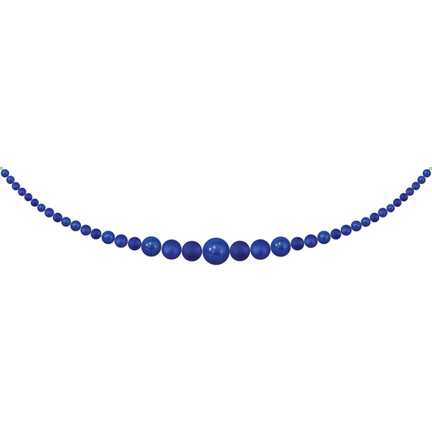 11.5' Giant Commercial Shatterproof Ball Garland, Blue Multi, Case, 1 Piece
