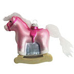 "4"" (100mm) Rocking Horse Figurine Ornaments, 1/Box, 6/Case, 6 Pieces - Christmas by Krebs Wholesale"
