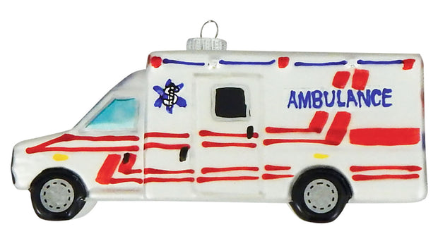 "5 1/2"" (140mm) Ambulance Figurine Ornaments, 1/Box, 6/Case, 6 Pieces - Christmas by Krebs Wholesale"