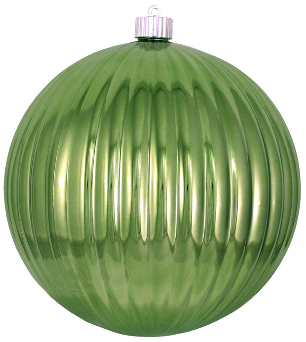 "8"" (200mm) Giant Commercial Shatterproof Ball Ornament, Limeade, Case, 6 Pieces"