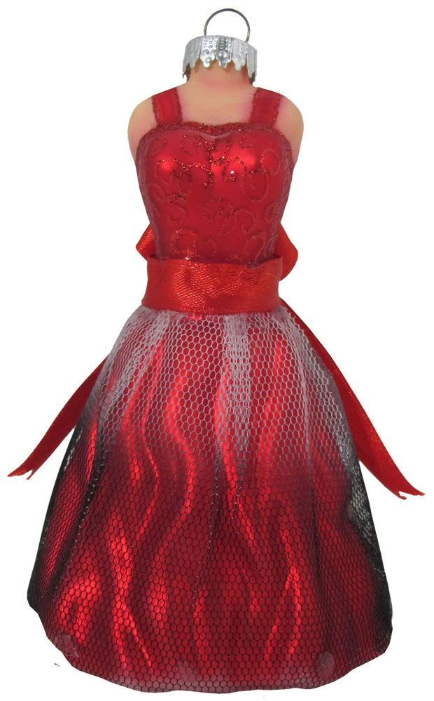 "4 1/2"" (114mm) Red Dress Figurine Ornaments, 1/Box, 6/Case, 6 Pieces - Christmas by Krebs Wholesale"