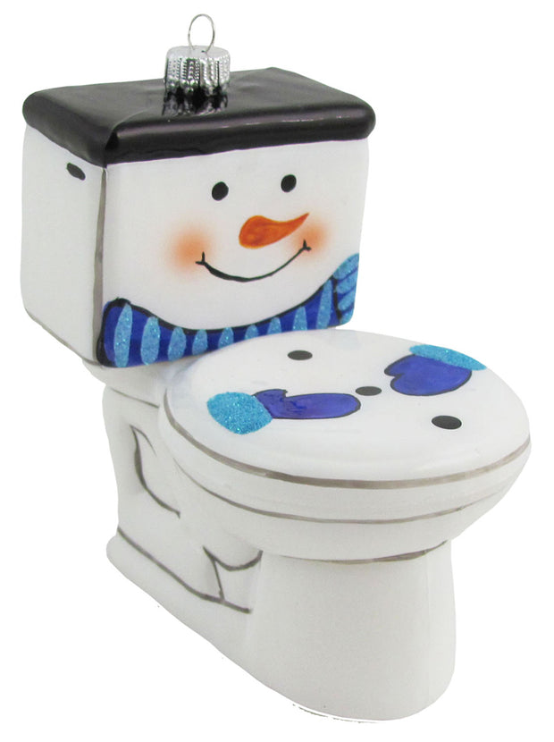 "4"" (100mm) Frosty the Toilet Figurine Ornaments, 1/Box, 6/Case, 6 Pieces"