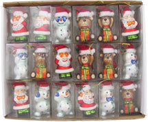 "2 1/2"" (64mm) See No Evil Figurine Ornaments Assortment, 1/Box, 36/Case, 36 Pieces"