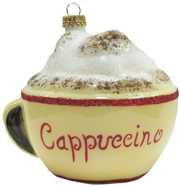 "4"" (100mm) Cup of Cappuccino Figurine Ornaments, 1/Box, 6/Case, 6 Pieces"