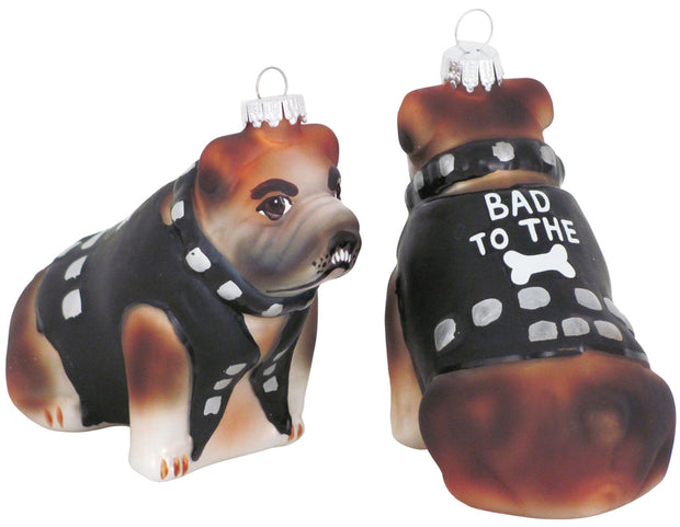 "3 1/2"" (89mm) Tough Bulldog Figurine Ornaments, 1/Box, 6/Case, 6 Pieces"