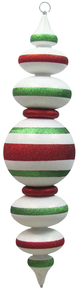 "40"" Giant Commercial Shatterproof Finials, Multicolor, Case, 1 Pieces"