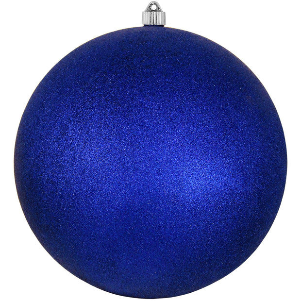"12"" (300mm) Giant Commercial Shatterproof Ball Ornament, Dark Blue Glitter, Case, 2 Pieces   Christmas by Krebs Wholesale"