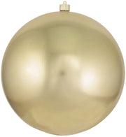 "12"" (300mm) Giant Commercial Shatterproof Ball Ornament, Gilded Gold, Case, 2 Pieces - Christmas by Krebs Wholesale"