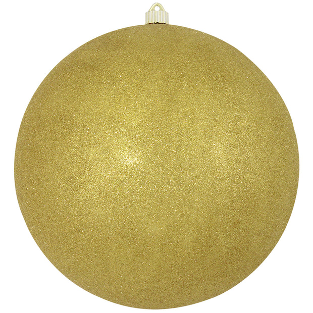 "12"" (300mm) Giant Commercial Shatterproof Ball Ornament, Gold Glitter, Case, 2 Pieces - Christmas by Krebs Wholesale"