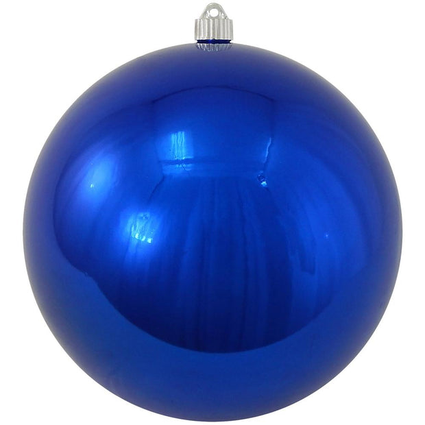 "10"" (250mm) Giant Commercial Pre Wired Shatterproof Ball Ornament, Azure Blue, Case, 4 Pieces - Christmas by Krebs Wholesale"