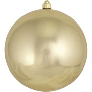 "10"" (250mm) Giant Commercial Shatterproof Ball Ornament, Gilded Gold, Case, 4 Pieces"