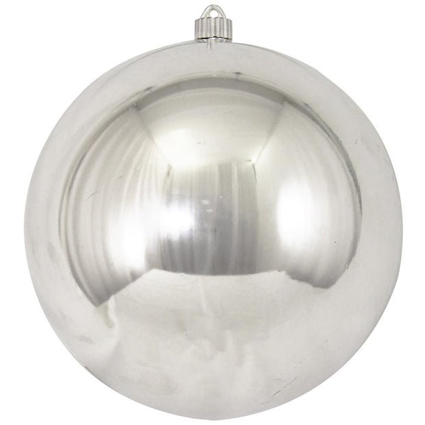 "10"" (250mm) Giant Commercial Pre Wired Shatterproof Ball Ornament, Looking Glass, Case, 4 Pieces - Christmas by Krebs Wholesale"