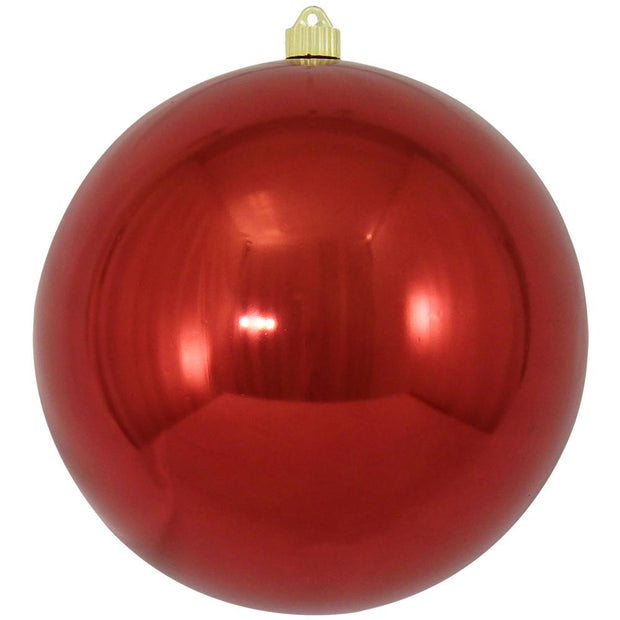 "10"" (250mm) Giant Commercial Pre Wired Shatterproof Ball Ornament, Sonic Red, Case, 4 Pieces - Christmas by Krebs Wholesale"