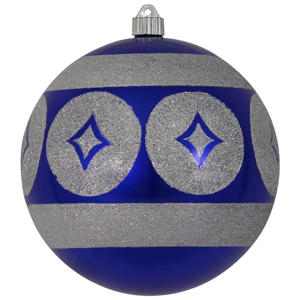 "8"" (200mm) Giant Commercial Shatterproof Ball Ornament, Azure Blue, Case, 6 Pieces"