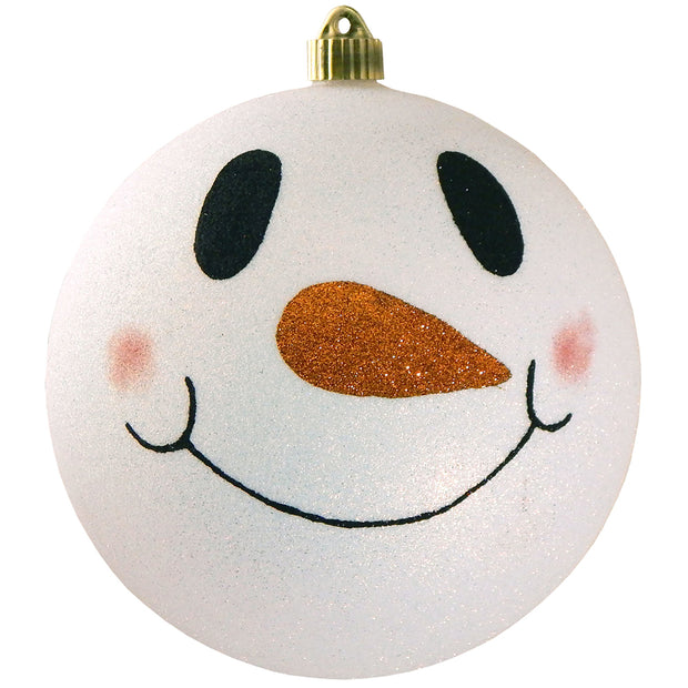 "8"" (200mm) Giant Commercial Shatterproof Ball Ornament, Snowball Glitter, Case, 6 Pieces - Christmas by Krebs Wholesale"