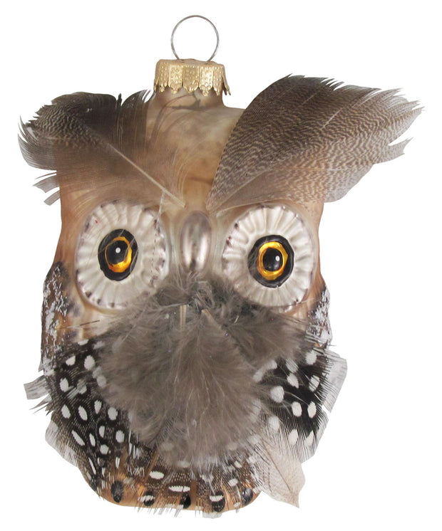 "4"" (100mm) Owl Figurine Ornaments, 1/Box, 6/Case, 6 Pieces - Christmas by Krebs Wholesale"