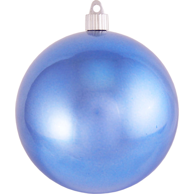 "4 3/4"" (120mm) Jumbo Commercial Shatterproof Ball Ornament, Polar Blue, Case, 36 Pieces - Christmas by Krebs Wholesale"