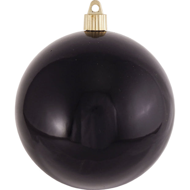 "4 3/4"" (120mm) Jumbo Commercial Shatterproof Ball Ornament, Onyx, Case, 36 Pieces"