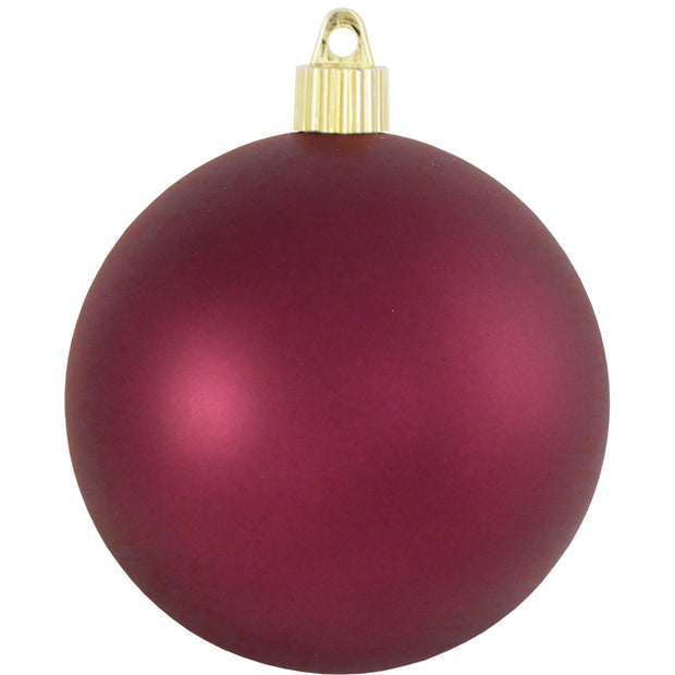 "4 3/4"" (120mm) Jumbo Commercial Shatterproof Ball Ornament, Bayberry, Case, 36 Pieces"