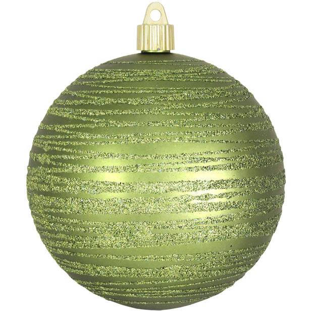 "4 3/4"" (120mm) Jumbo Commercial Shatterproof Ball Ornament, Krypton, Case, 24 Pieces   Christmas by Krebs Wholesale"