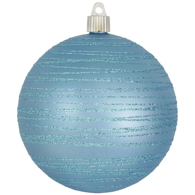 "4 3/4"" (120mm) Jumbo Commercial Shatterproof Ball Ornament, Arctic Chill, Case, 24 Pieces - Christmas by Krebs Wholesale"