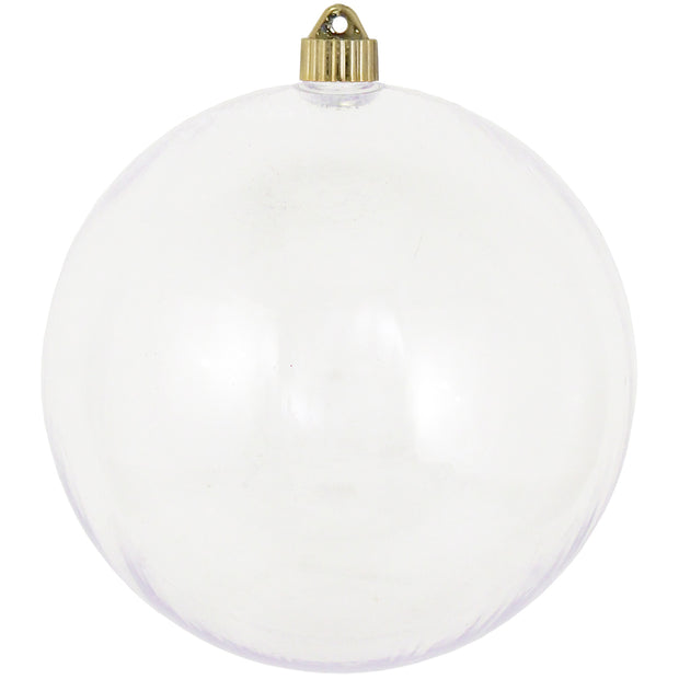"8"" (200mm) Giant Commercial Shatterproof Ball Ornament, Clear, Case, 6 Pieces"