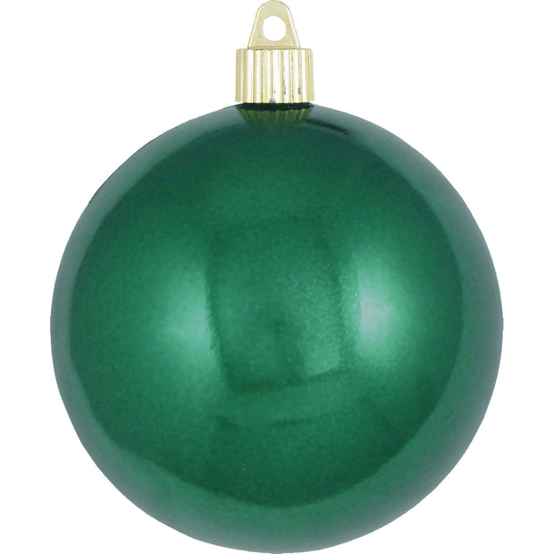 "4"" (100mm) Large Commercial Pre-Wired Shatterproof Ball Ornament, Blarney, Case, 48 Pieces"