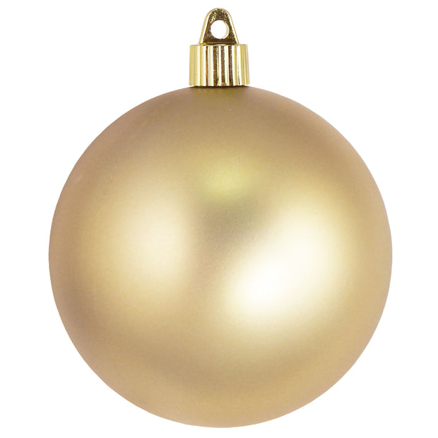 "4"" (100mm) Large Commercial Pre-Wired Shatterproof Ball Ornament, Gold Dust, Case, 48 Pieces - Christmas by Krebs Wholesale"