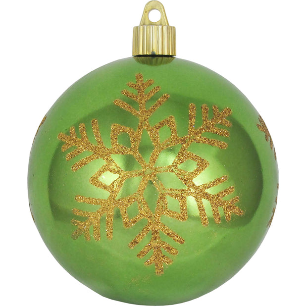 "4"" (100mm) Large Commercial Shatterproof Ball Ornament, Limeade, Case, 24 Pieces - Christmas by Krebs Wholesale"