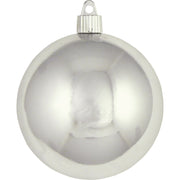 "4"" (100mm) Large Commercial Pre-Wired Shatterproof Ball Ornament, Looking Glass, Case, 48 Pieces"