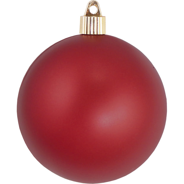 "4"" (100mm) Large Commercial Pre-Wired Shatterproof Ball Ornament, Red Alert, Case, 48 Pieces - Christmas by Krebs Wholesale"