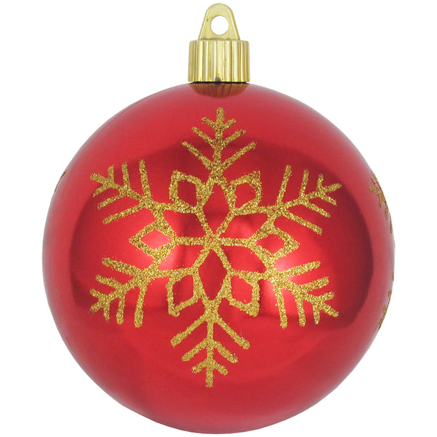 "4"" (100mm) Large Commercial Shatterproof Ball Ornament, Sonic Red, Case, 24 Pieces"