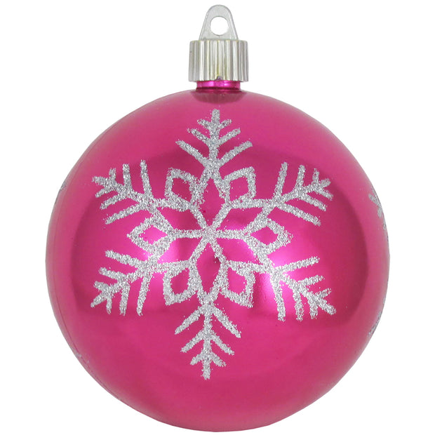 "4"" (100mm) Large Commercial Shatterproof Ball Ornament, Tutti Frutti, Case, 24 Pieces"