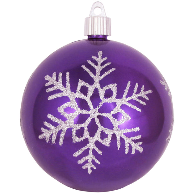 "4"" (100mm) Large Commercial Shatterproof Ball Ornament, Vivacious Purple, Case, 24 Pieces - Christmas by Krebs Wholesale"