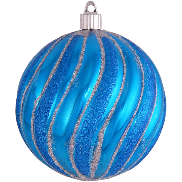 "4 3/4"" (120mm) Jumbo Commercial Shatterproof Ball Ornament, Balmy Seas, Case, 24 Pieces - Christmas by Krebs Wholesale"