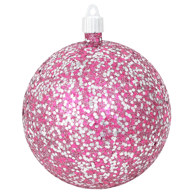 "4 3/4"" (120mm) Jumbo Commercial Shatterproof Ball Ornament, Multicolor, Case, 36 Pieces"