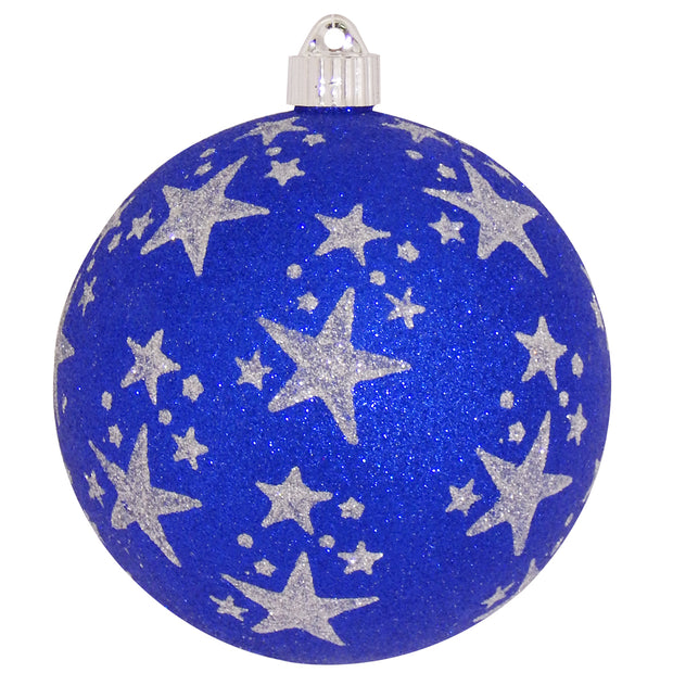 "6"" (150mm) Large Commercial Shatterproof Ball Ornaments, Dark Blue, 1/Box, 12/Case, 12 Pieces"