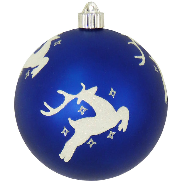 "6"" (150mm) Large Commercial Shatterproof Ball Ornaments, Regal Blue, 1/Box, 12/Case, 12 Pieces - Christmas by Krebs Wholesale"