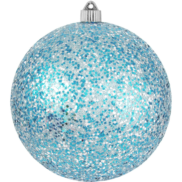"8"" (200mm) Giant Commercial Shatterproof Ball Ornament, Multicolor, Case, 6 Pieces - Christmas by Krebs Wholesale"