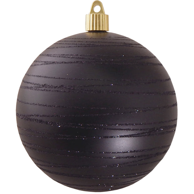 "4 3/4"" (120mm) Jumbo Commercial Shatterproof Ball Ornament, Soot, Case, 24 Pieces"