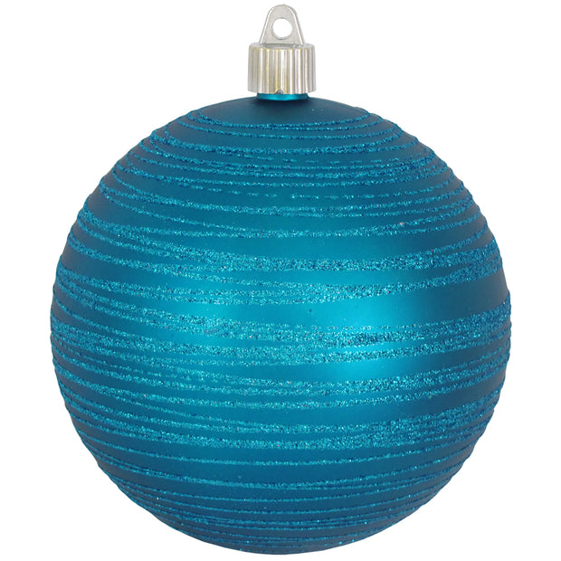 "4 3/4"" (120mm) Jumbo Commercial Shatterproof Ball Ornament, Aloha, Case, 24 Pieces   Christmas by Krebs Wholesale"