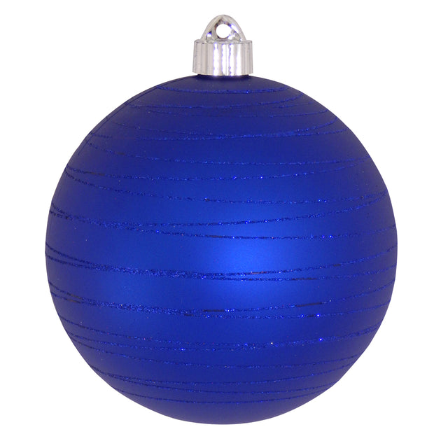 "6"" (150mm) Large Commercial Shatterproof Ball Ornaments, Regal Blue, 1/Box, 12/Case, 12 Pieces"