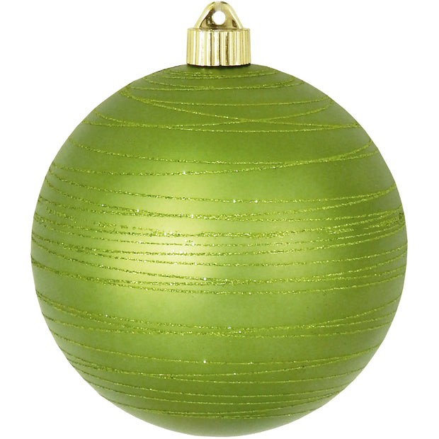 "6"" (150mm) Large Commercial Shatterproof Ball Ornaments, Krypton Green, 1/Box, 12/Case, 12 Pieces - Christmas by Krebs Wholesale"