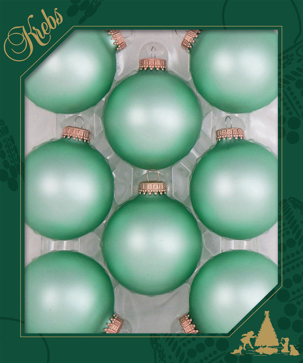 "2 5/8"" (67mm) Ball Ornaments, Gold Caps, Mermaid, 8/Box, 12/Case, 96 Pieces - Christmas by Krebs Wholesale"