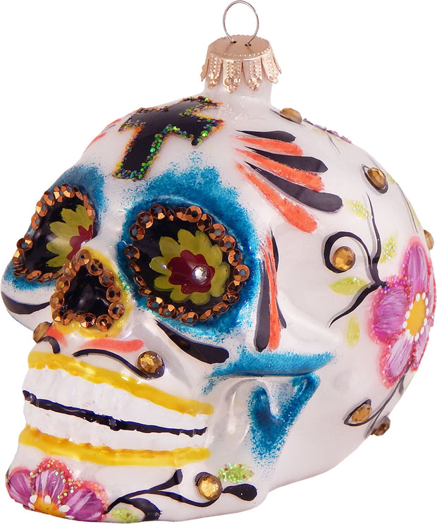 "3 3/4"" (95mm) Skull Figurine Ornaments, 1/Box, 6/Case, 6 Pieces - Christmas by Krebs Wholesale"