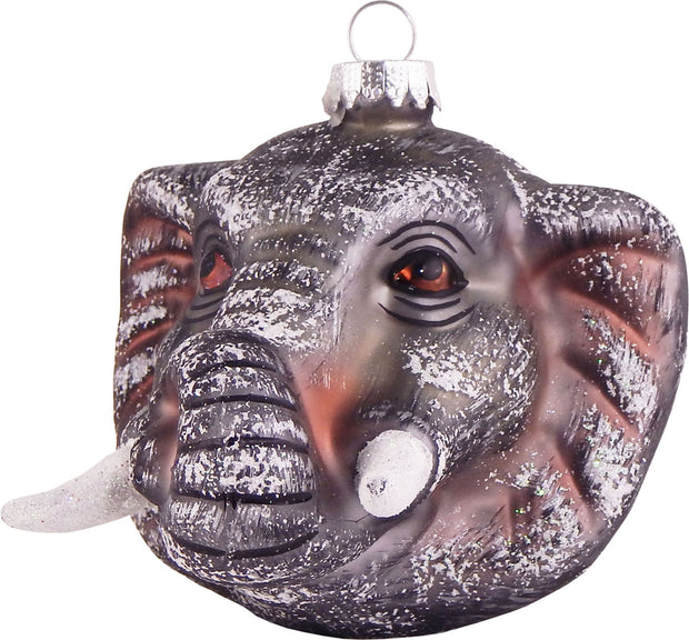 "3 3/4"" (95mm) Elephant Head Figurine Ornaments, 1/Box, 6/Case, 6 Pieces"