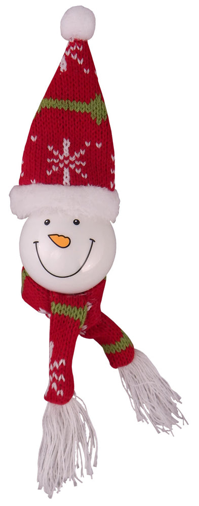 "10"" (250mm) Snowman Head Figurine Ornaments, 1/Box, 6/Case, 6 Pieces"